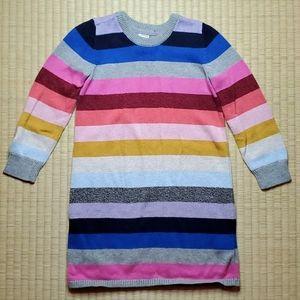 GAP Multi-Color Stripe Winter Sweater Dress, 4T